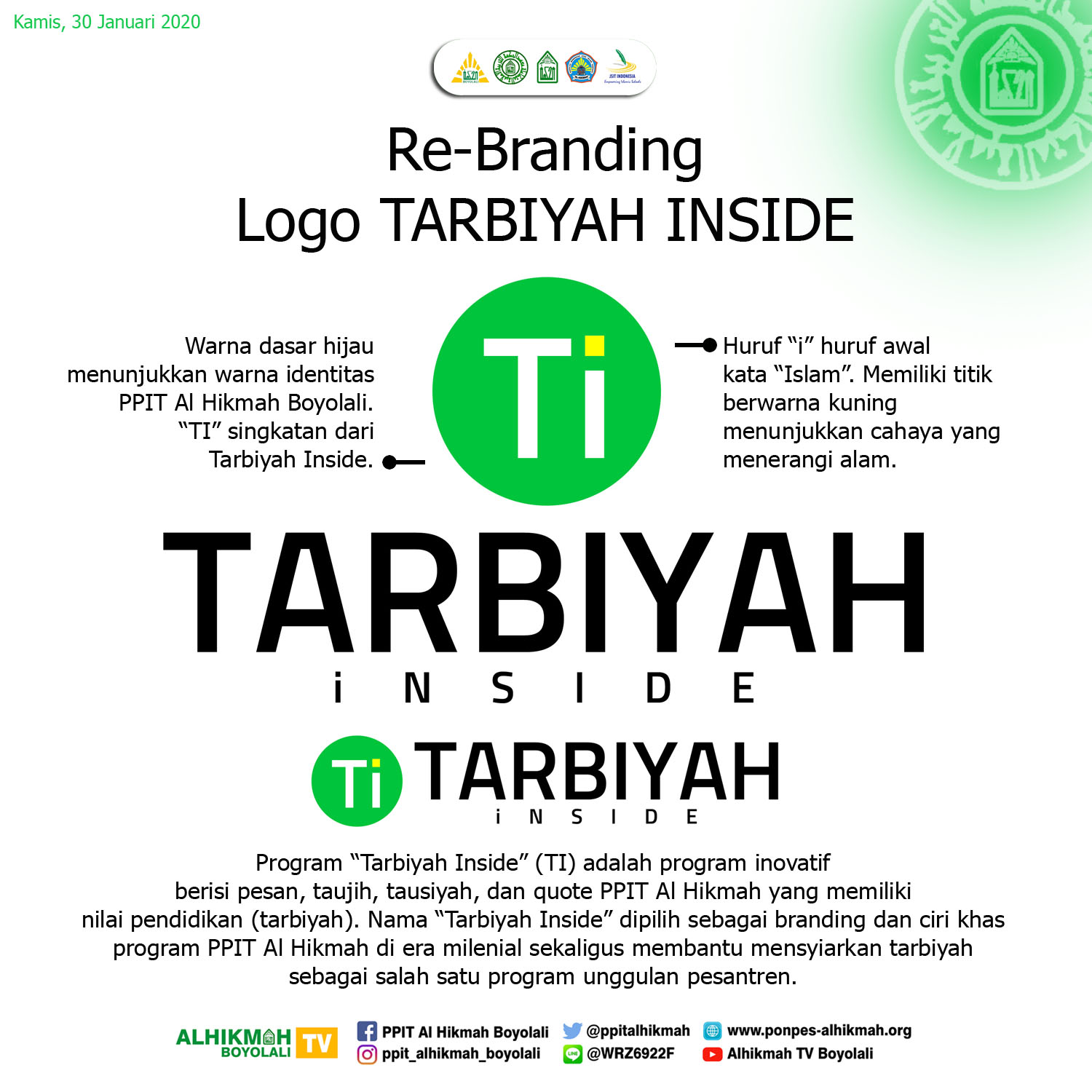 Re-Branding Logo TARBIYAH INSIDE
